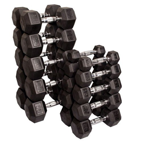 Body Solid SDRS550 5-50-Pound Rubber Hex Dumbbell Set Body Solid http://www.amazon.com/dp/B001HAYPDA/ref=cm_sw_r_pi_dp_x6Kcub0NWAHG1