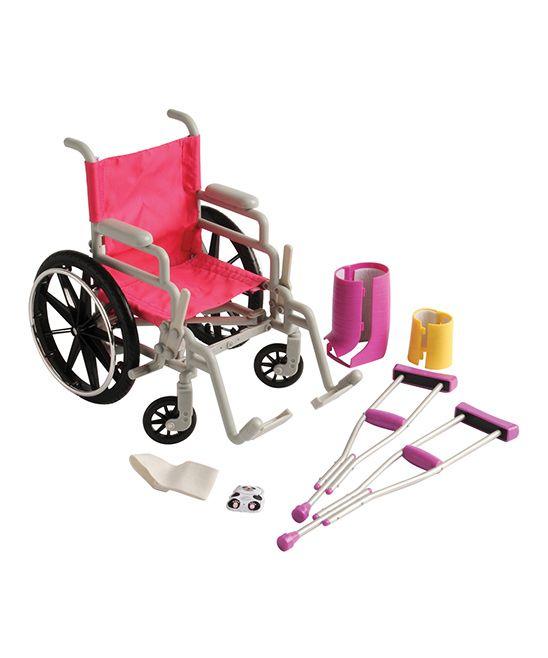 Wheelchair & Crutch Set for 18'' Doll