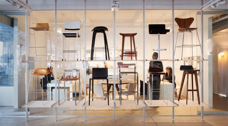 creative chair display