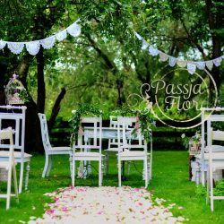 koronkowy ślub plenerowy