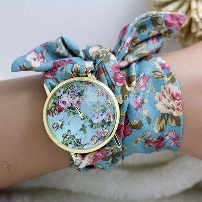 Chic Ladies Fabric Wrap Watch