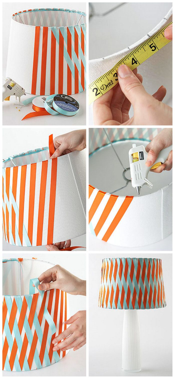 Nook And Nest - Affordable Interior Decorating and Home Staging - Blog - DIY RibbonLampshade