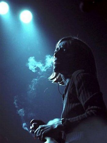 Beth Gibbons of Portishead. She always looks so beautifully sorrowful when she performs.
