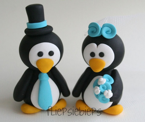 Penguin Wedding Cake Topper:  OKAY STOP THIS WILL BE MY CAKE TOPPER. NO QUESTION ASKED.