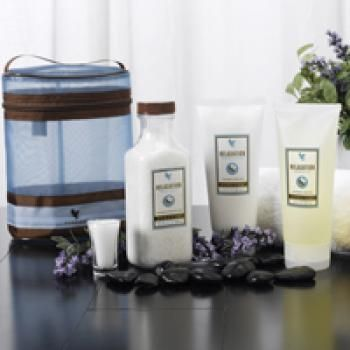 Indulge your senses with this 3-piece collection of our aromatherapy spa products: Relaxation Bath Salts, Relaxation Shower Gel, and Relaxation Massage Lotion. Used alone or together, you will enjoy the benefits of an aromatherapy spa experience right in the comfort of your own home!