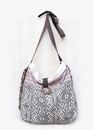 I <3 this cross shoulder bag!! Hand woven in Laos with the uber cool geometric print. So very versatile! $186.00