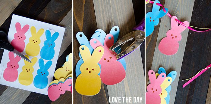 Peeps Garland (FREE Printable) by Love The Day