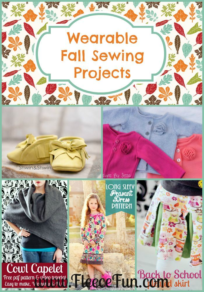 Wearable Fall Sewing Projects! There are so many wonderful (and FREE) sewing patterns to make this season. I love all these wonderful ideas for fall sewing!