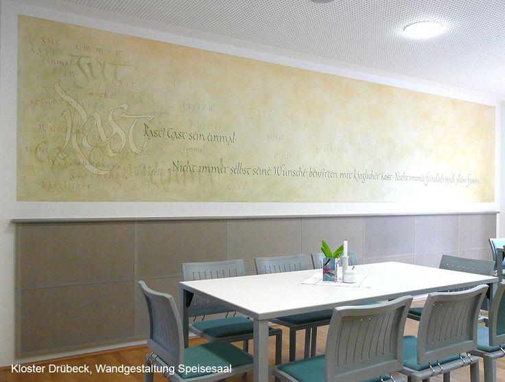 23 best Calligraphy Interior Design \/ Schriftwände images on - wandgestaltung gothic