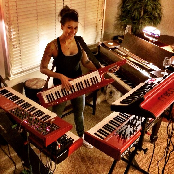 Red Keyboards  Nord Electro 3  Lead 4 And Stage 2  Moog Little Phatty  Roland Keytar Ax
