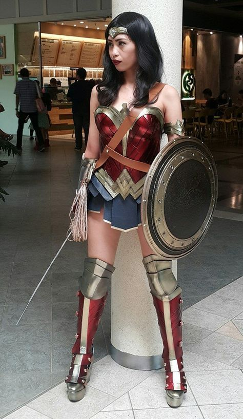 "cosplayandgeekstuff: ""  Izabel Cortez (Philippines) as Wonder Woman. Photo: ©2016 Izabel Cortez """