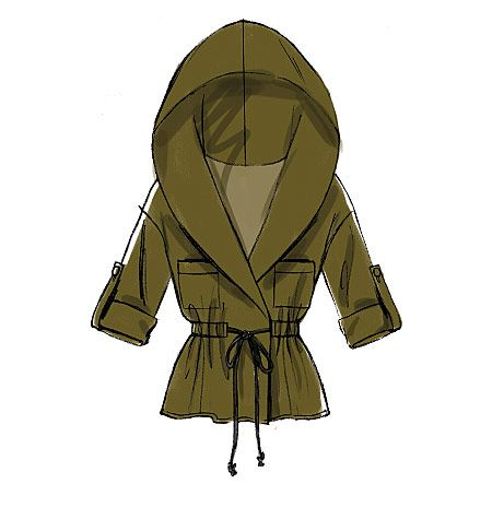 New from McCall's: Blouson jacket pattern with hoods and tie-fronts. Sew M7333.