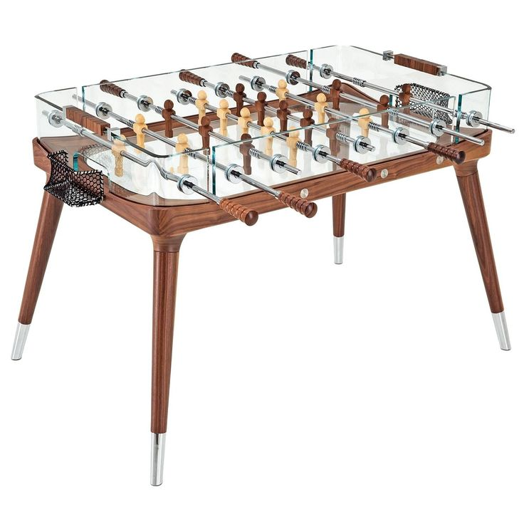 90° Minuto Foosball Table by Teckell in Walnut | From a unique collection of antique and modern games at https://www.1stdibs.com/furniture/more-furniture-collectibles/games/