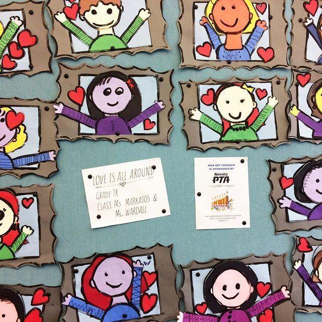 Todd Parr-inspired portraits - TK classes Thanks to @cassie_stephenz for the lesson idea! #papercutting #art #artclass #artteacher #school #elementaryschool