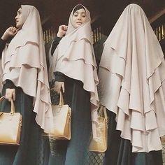 Black Cascading Instant Hijab Khimar Long Amira One Piece Slip On Scarf Abaya