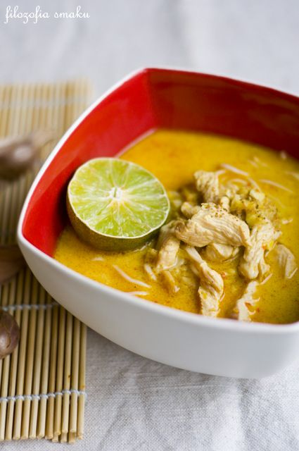 ◊◊◊Tajska zupa z kurczakiem i mlekiem kokosowym