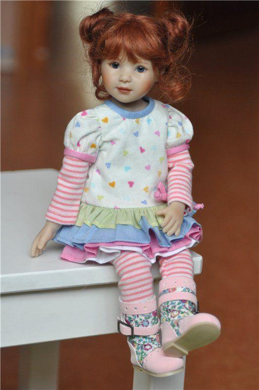 Линетт от Heidi Plusczok / Коллекционные куклы Heidi Plusczok dolls / Бэйбики. Куклы фото. Одежда для кукол