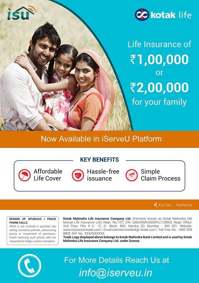 Kotak Life Insurance (KLI) is now available in iServeU ...