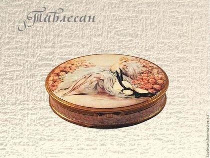 "Szkatułka ręcznie.  Targi Masters - handmade biżuteria polu dla ""Belle Rose"" decoupage vintage.  Handmade."