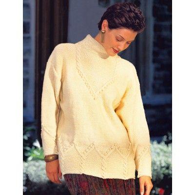 Free BeginnerEasy Women's Sweater Knit Pattern
