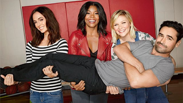 The stars of 'Bring It On' -- Kirsten Dunst, Jesse Bradford Gabrielle Union, and Eliza Dushku -- reunite 15 years later and talk about getting arrested in Mexico!