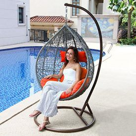 Have You Been Looking for a Hanging Nest Chair for a Long Time But Never Found The Right One? Now Here It Is. This Wicker Lounging Chair is a Gold Standard for Long-Lasting Outdoor Wear. Mature C Stand Design can Prevent It from Tilting an Falling. Soft but Strong-feeling Synthetic Type Rattan wear much better […]