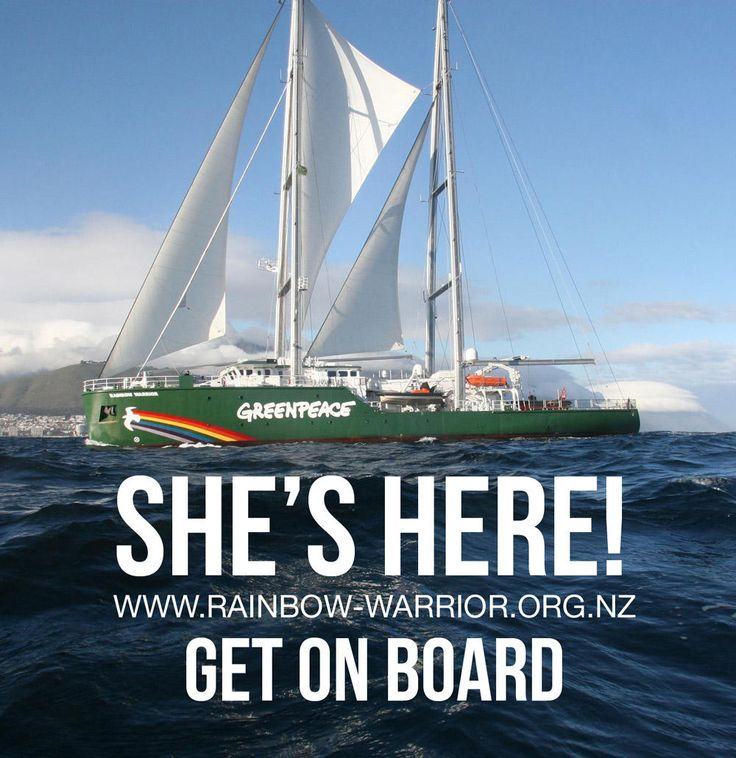 Get on board at: http://www.greenpeace.org/new-zealand/en/New-Rainbow-Warrior/