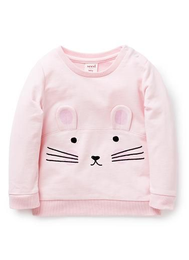 Baby Girls Shirts Tops Tees | Mouse Windcheater | Seed Heritage
