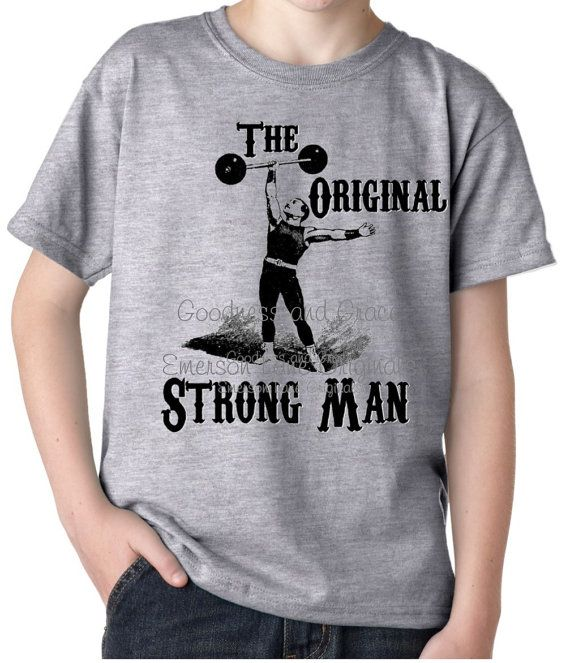 The Original Strong Man Circus Shirt - perfect for a circus party or outing! https://www.etsy.com/listing/277518828/strongest-man-on-earth-vintage-circus