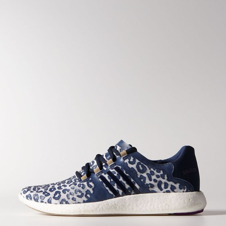 These adidas by Stella McCartney Pureboost Shoes refine the running shoe  down to the essentials. A seamless, sock-like leopard upper and a smooth  boost™ ...