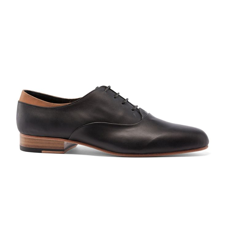 The Achilles Shoe is named for its custom tan leather detailing at the  ankle. Sleek and modern, with a low cut and a soft polish, it can take you  from your ...