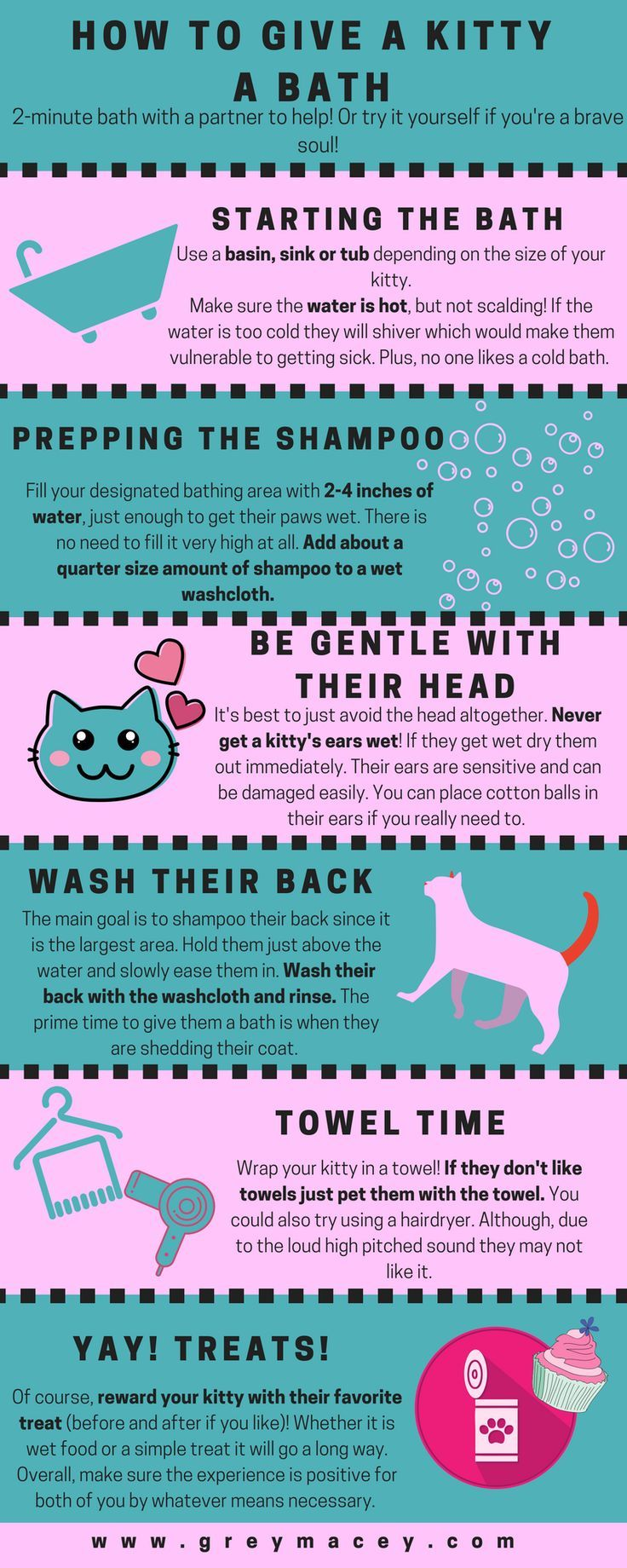 Giving A Kitty Their First Bath Pet Hacks Cat Care Tips Cat Advice