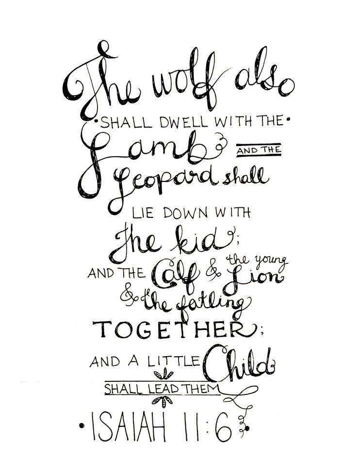 Handlettering. The wolf in the Bible. What heaven will be like