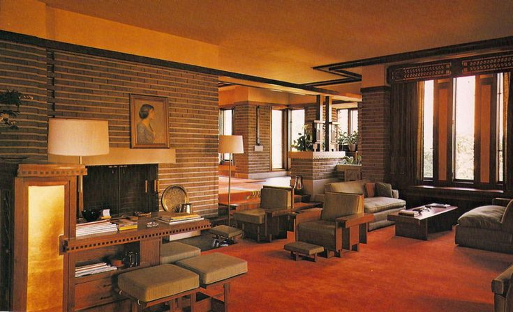 218 best images about frank lloyd wright on pinterest for Frank lloyd wright interior designs