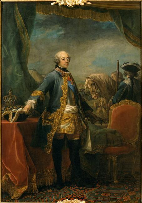 Louis XV de France et un Garde du Corps du Roy. Van Loo