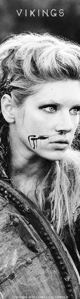 Lagertha on Vikings...she may not be the Wonder Woman but dang it if she's not a beast! Such a strong protective mother and she has the coolest braided hair ever!