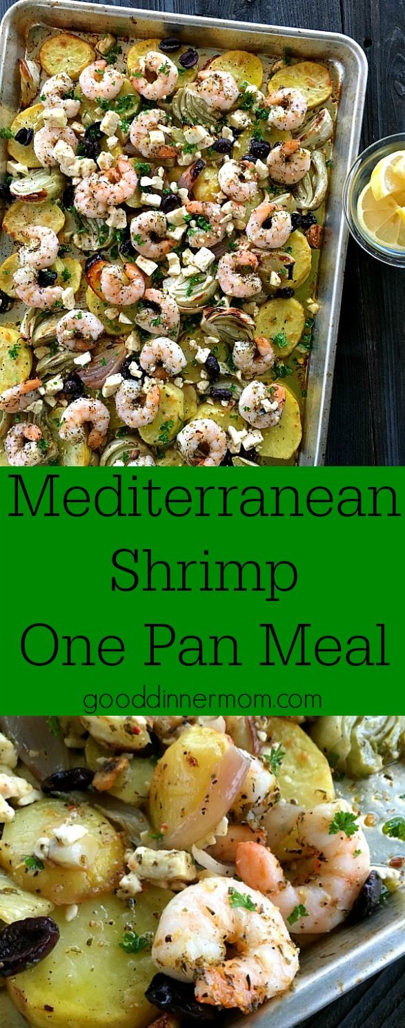 Mediterranean Shrimp made perfect in your oven in just over 30 minutes. Buttery Yukon potatoes, Kalamata olives and feta cheese. Quick weeknight or company worthy.