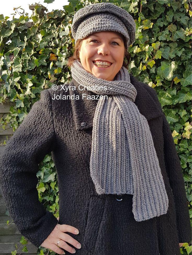 PATR1097 - Dames-heren sjaal en dames baret - one size fits most