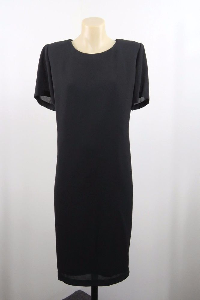 Size XL 16 Ladies Black Shift Dress Tunic Gothic Chic Office Retro Cocktail EUC #Millers #Shift #WeartoWork