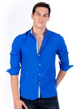 Yazlık Mavi Erkek Gömlek