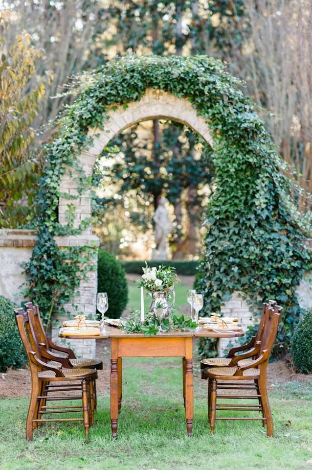 Ivy & Stone Arch  www.tablescapesbydesign.com https://www.facebook.com/pages/Tablescapes-By-Design/129811416695