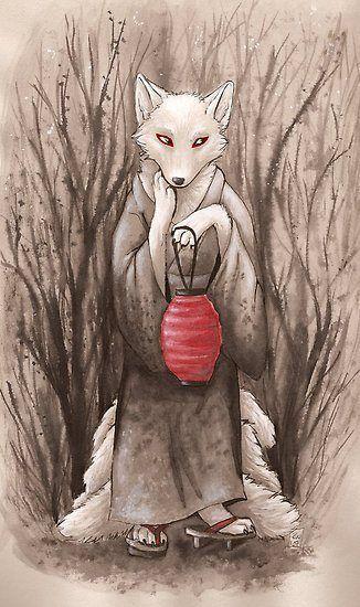 A Kitsune (Japanese Fox Spirit)