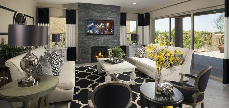 20 best modern fireplaces images on pinterest for Living room queen creek