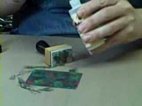 Ranger/Tim Holtz demos Adirondack Alcohol Inks--Very interesting!  What a hoot putting it on glass!
