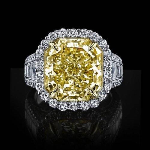 12 36 Flawless Canary And White Diamond Ring Diamond