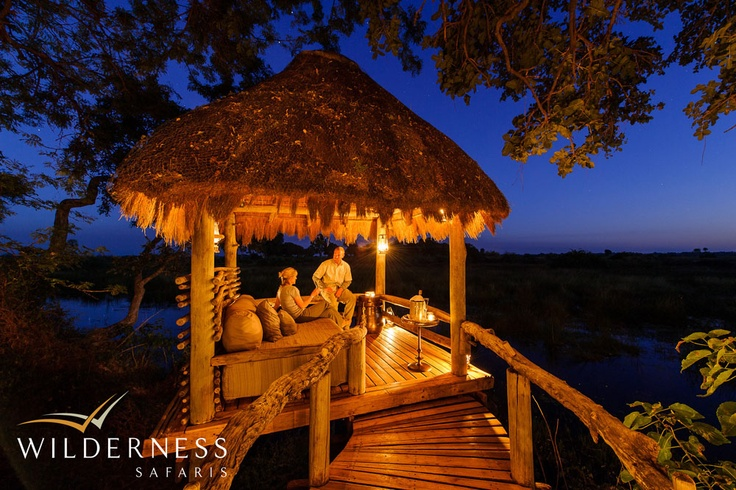 Mombo Camp - All the rooms, the sala, long veranda and lounge area taking advantage of the very best that the Okavango Delta has to offer. #Safari #Africa #Botswana  #WildernessSafaris