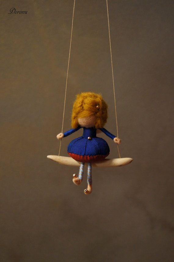 Miniature fairy figurine by DORIMU on Etsy