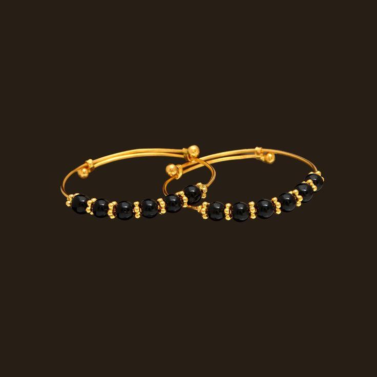gold baby bangles (107A29720) | Vummidi Bangaru Jewellers