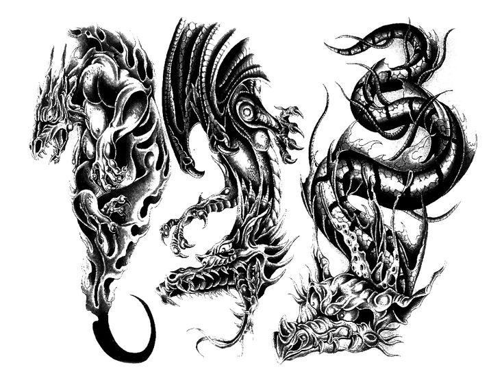 Тату на прозрачном фоне, черно-белые - татуировки - Tattoo.