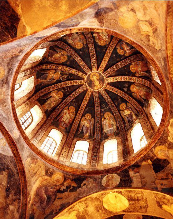The dome of the Kariye Camii Museum